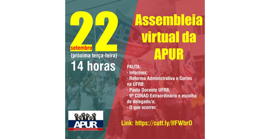 Assembleia virtual da  APUR